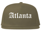 Atlanta Texas TX Old English Mens Snapback Hat Grey