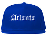 Atlanta Texas TX Old English Mens Snapback Hat Royal Blue