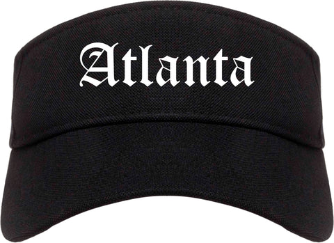 Atlanta Texas TX Old English Mens Visor Cap Hat Black