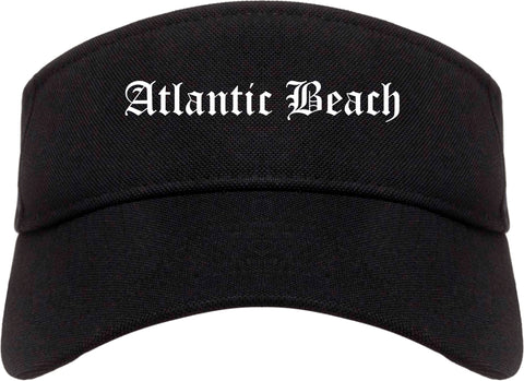 Atlantic Beach Florida FL Old English Mens Visor Cap Hat Black