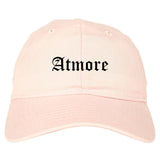 Atmore Alabama AL Old English Mens Dad Hat Baseball Cap Pink