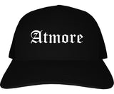 Atmore Alabama AL Old English Mens Trucker Hat Cap Black
