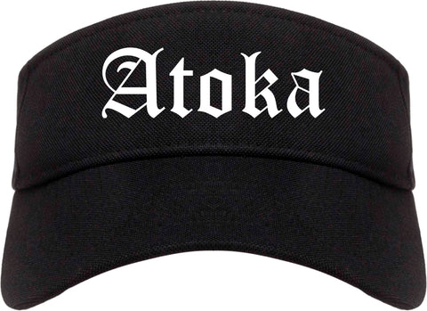 Atoka Tennessee TN Old English Mens Visor Cap Hat Black