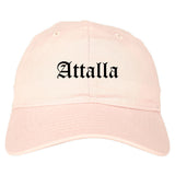 Attalla Alabama AL Old English Mens Dad Hat Baseball Cap Pink