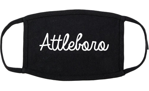 Attleboro Massachusetts MA Script Cotton Face Mask Black