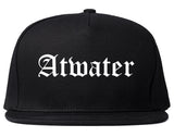 Atwater California CA Old English Mens Snapback Hat Black