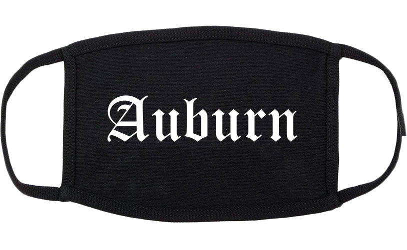 Auburn California CA Old English Cotton Face Mask Black