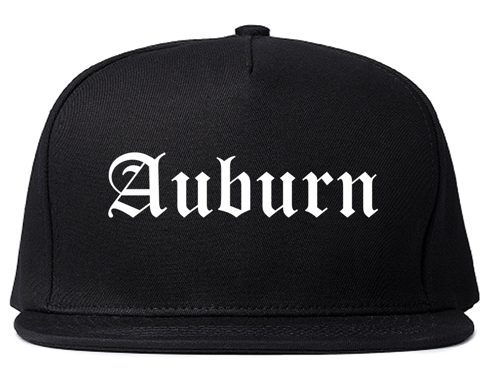 Auburn Indiana IN Old English Mens Snapback Hat Black