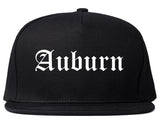 Auburn Washington WA Old English Mens Snapback Hat Black