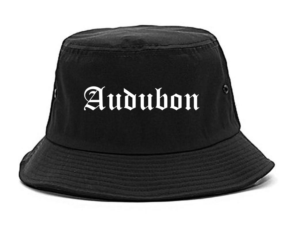Audubon New Jersey NJ Old English Mens Bucket Hat Black