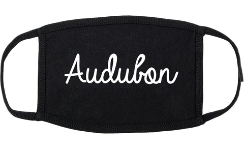 Audubon New Jersey NJ Script Cotton Face Mask Black