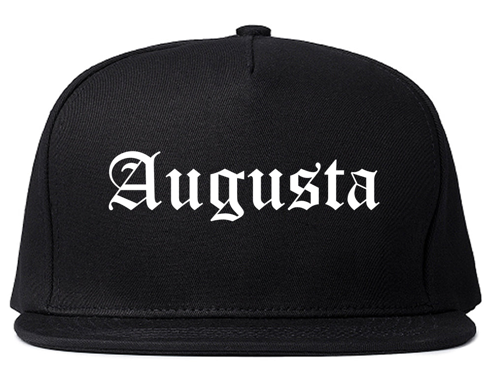 Augusta Georgia GA Old English Mens Snapback Hat Black