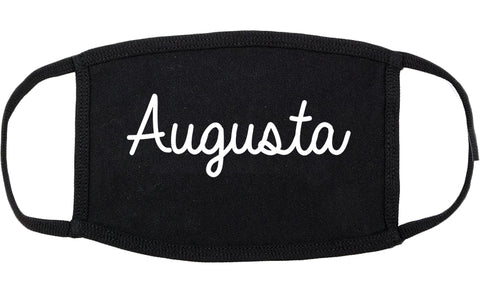 Augusta Georgia GA Script Cotton Face Mask Black