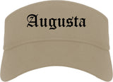 Augusta Kansas KS Old English Mens Visor Cap Hat Khaki