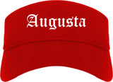 Augusta Kansas KS Old English Mens Visor Cap Hat Red