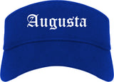 Augusta Kansas KS Old English Mens Visor Cap Hat Royal Blue