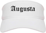 Augusta Kansas KS Old English Mens Visor Cap Hat White