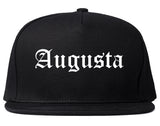 Augusta Maine ME Old English Mens Snapback Hat Black