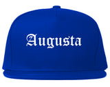 Augusta Maine ME Old English Mens Snapback Hat Royal Blue