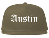 Austin Texas TX Old English Mens Snapback Hat Grey