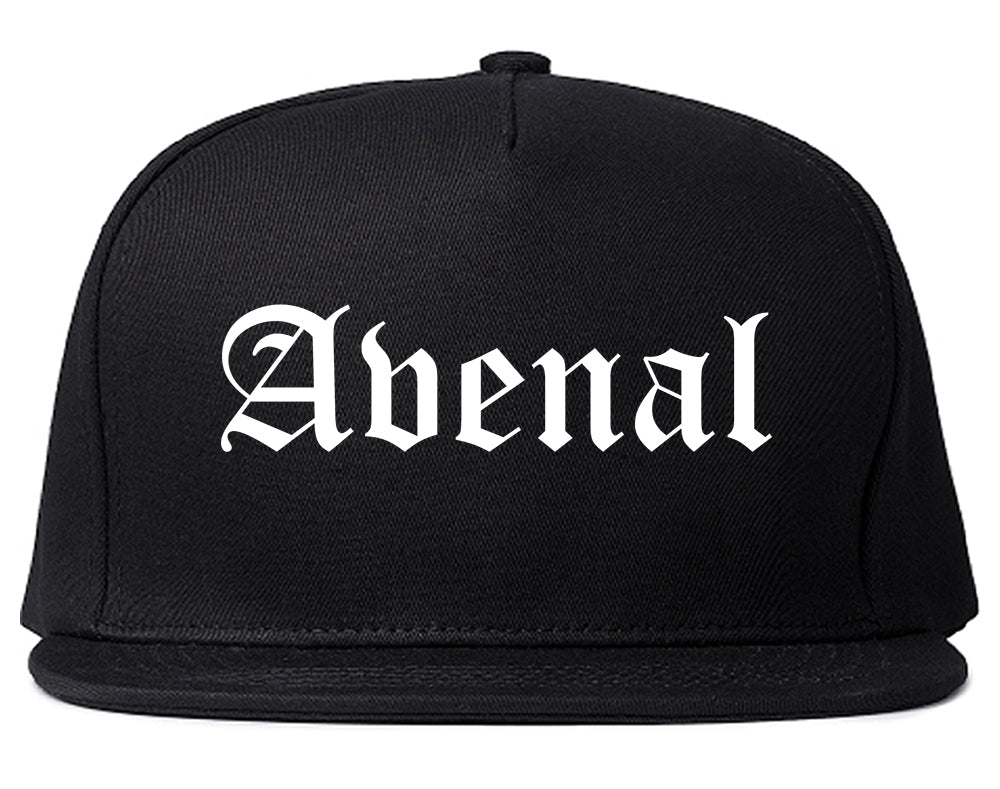 Avenal California CA Old English Mens Snapback Hat Black