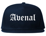 Avenal California CA Old English Mens Snapback Hat Navy Blue