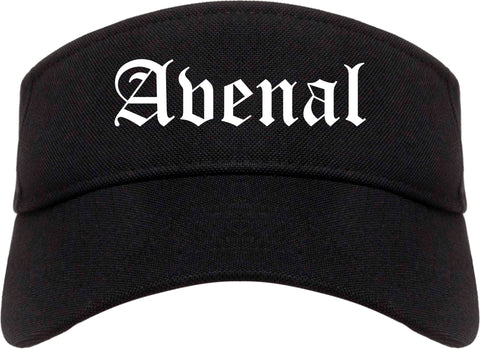 Avenal California CA Old English Mens Visor Cap Hat Black