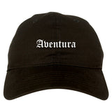 Aventura Florida FL Old English Mens Dad Hat Baseball Cap Black