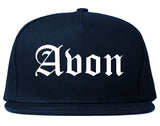 Avon Indiana IN Old English Mens Snapback Hat Navy Blue