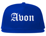 Avon Indiana IN Old English Mens Snapback Hat Royal Blue