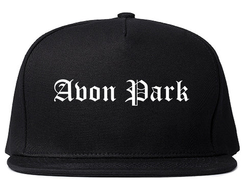 Avon Park Florida FL Old English Mens Snapback Hat Black
