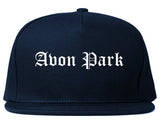 Avon Park Florida FL Old English Mens Snapback Hat Navy Blue