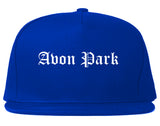 Avon Park Florida FL Old English Mens Snapback Hat Royal Blue