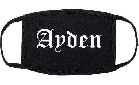 Ayden North Carolina NC Old English Cotton Face Mask Black