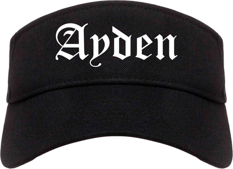 Ayden North Carolina NC Old English Mens Visor Cap Hat Black