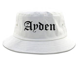 Ayden North Carolina NC Old English Mens Bucket Hat White