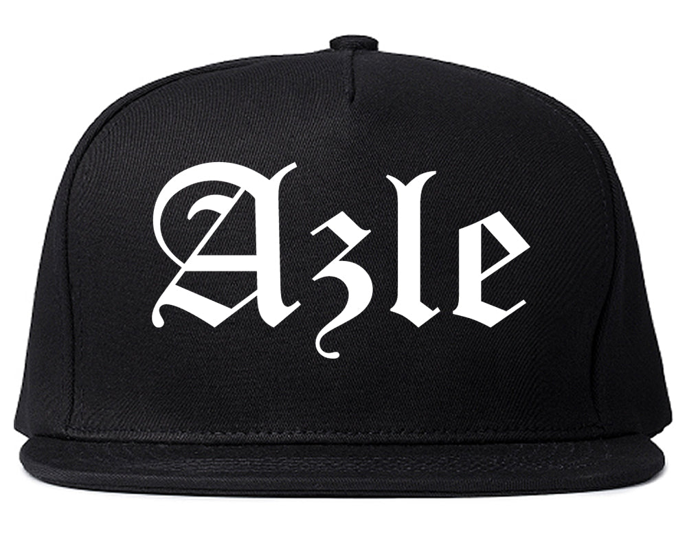Azle Texas TX Old English Mens Snapback Hat Black