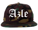 Azle Texas TX Old English Mens Snapback Hat Army Camo