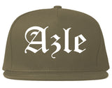 Azle Texas TX Old English Mens Snapback Hat Grey