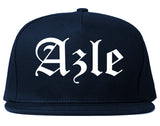 Azle Texas TX Old English Mens Snapback Hat Navy Blue