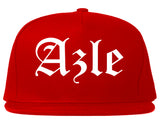 Azle Texas TX Old English Mens Snapback Hat Red
