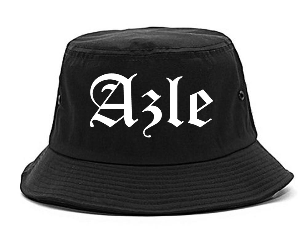 Azle Texas TX Old English Mens Bucket Hat Black