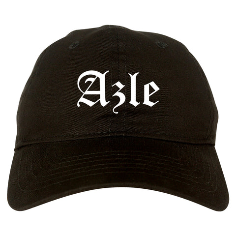Azle Texas TX Old English Mens Dad Hat Baseball Cap Black
