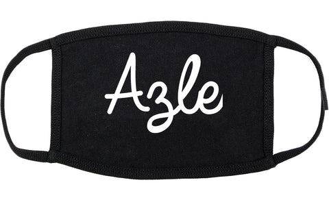 Azle Texas TX Script Cotton Face Mask Black