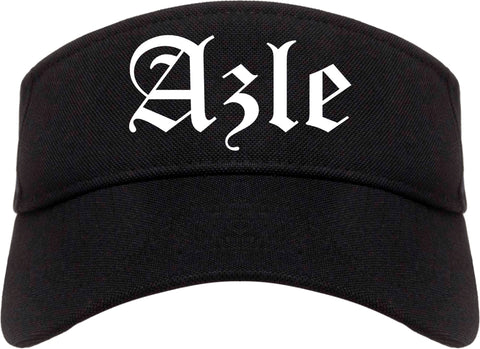 Azle Texas TX Old English Mens Visor Cap Hat Black