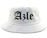Azle Texas TX Old English Mens Bucket Hat White