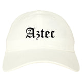 Aztec New Mexico NM Old English Mens Dad Hat Baseball Cap White
