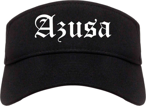 Azusa California CA Old English Mens Visor Cap Hat Black