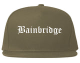 Bainbridge Georgia GA Old English Mens Snapback Hat Grey