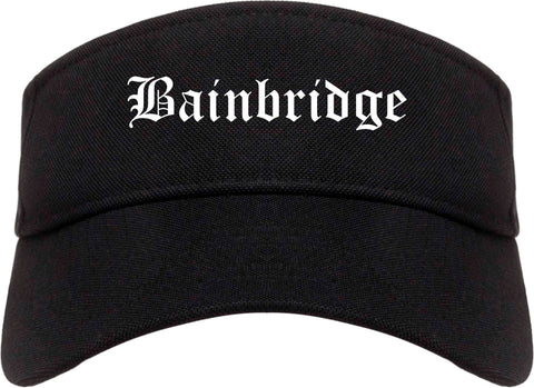 Bainbridge Georgia GA Old English Mens Visor Cap Hat Black